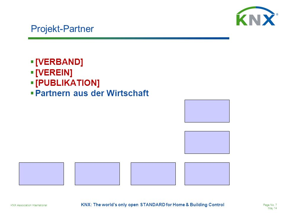 Projekt-Partner [VERBAND] [VEREIN] [PUBLIKATION]